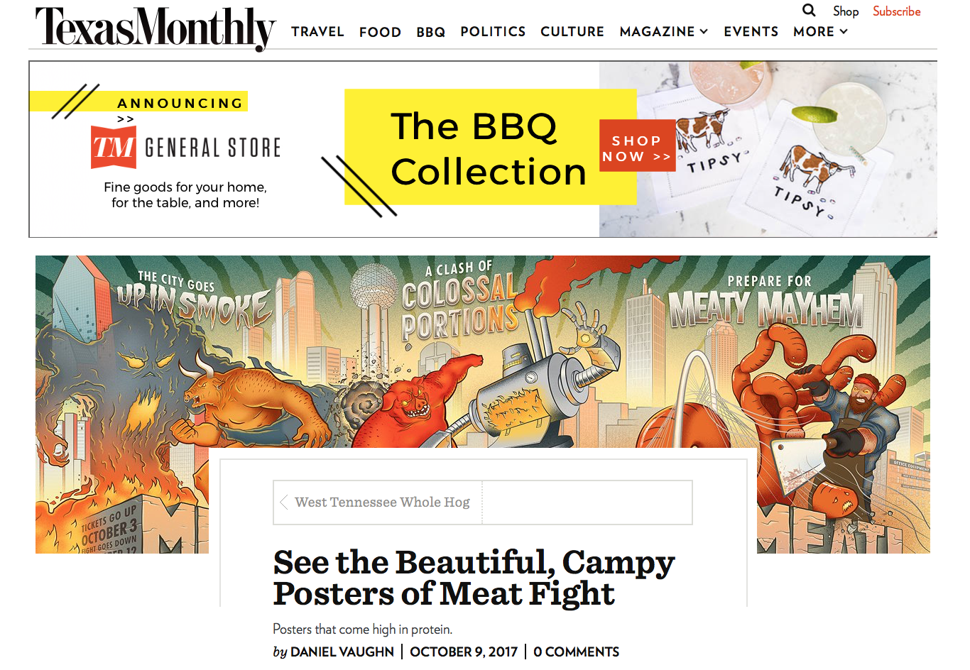 Recognizing Greatness and Meatness in Texas Monthly